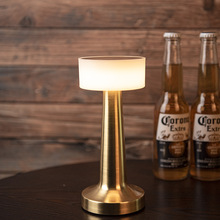 Bar Table Lamp Touch Dimmable Chargable Simple LED Lighting Fixture for Cafe Restaurant Hotel Bedroom Desk Lamp Bed Night Lights