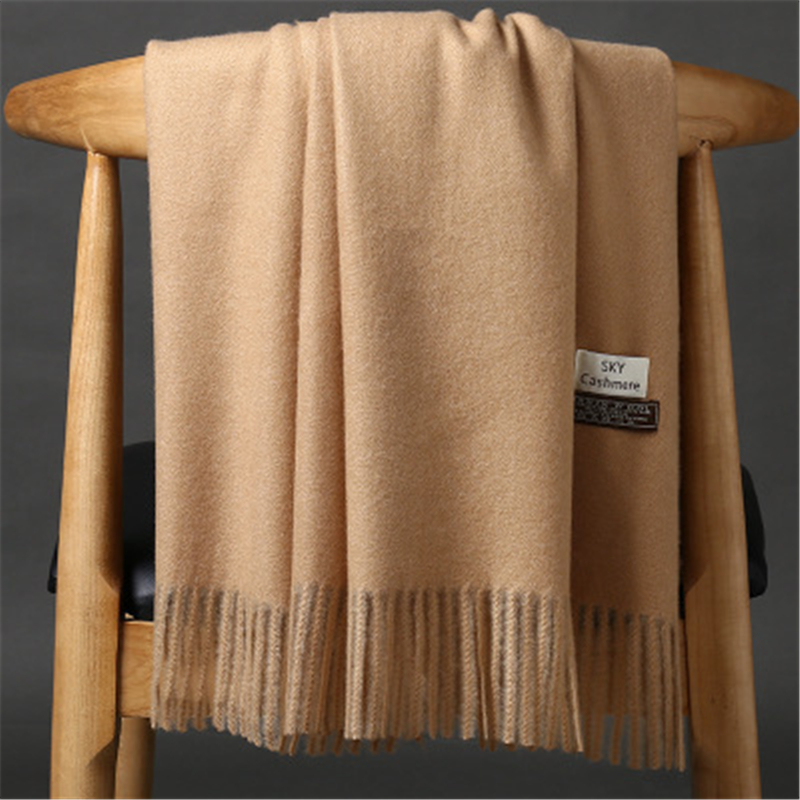 Girita Winter Men's Women's Scarves Luxury Brand Scarf Unisex Female Male Wool Sky Cashmere Scarf Pashmina Tassels Wrap Shawl