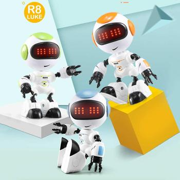 R8/R9 Robot Touch Control LED Eyes Robo Smart Intelligent Voice DIY Body Gesture Model Educational toys Robots For Children toys face change recording voice change smart robots voice control educational interactive toys rc robots for children kids