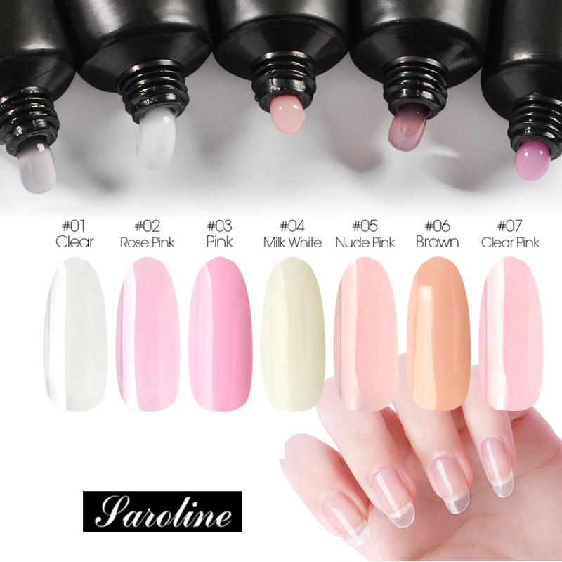 Saroline Poly Gel Quick Builder Acrylic Gel Clear Crystal Jelly Effect Extension Gel Varnish Polygel Off White For Nail Fast