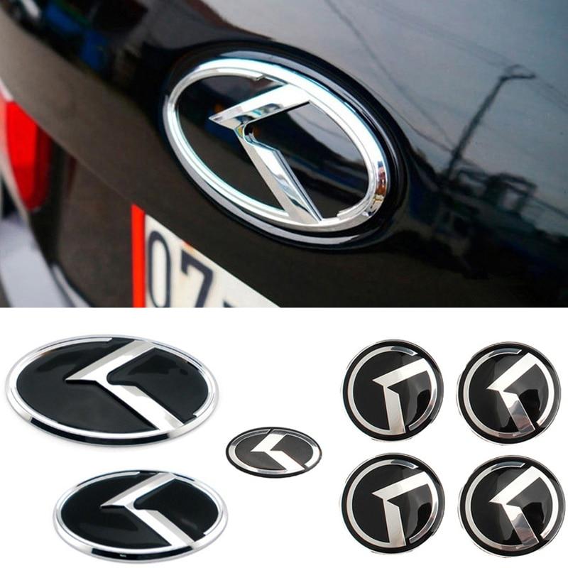 7pcs ABS Auto Emblem for KIA K2 K3 KX3 K5 Sorento Rio Forte Sportage Ceed Optima Carens Front Trunk Steering Wheel Hub Stickers