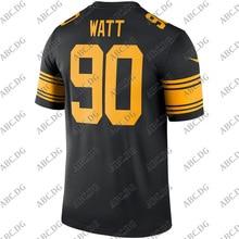 Jersey Pittsburgh Rush Customized 4XL Stitch Youth Watt Kid Black-Color Legend-Player