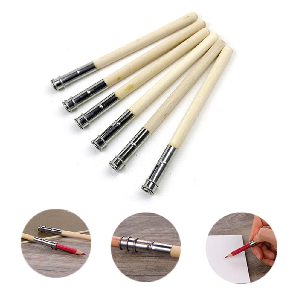 10PCS Log Pencil Extender, Penholder, Art Sketch Extender, Student Pen Cover, Pen Cap Connector