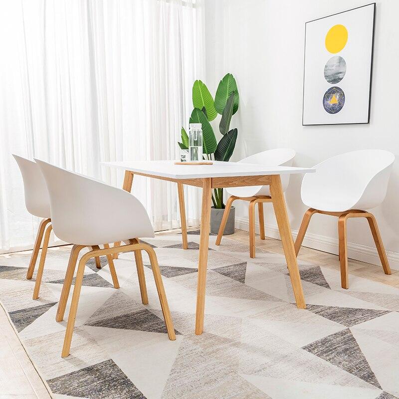 Nordic Dining Chair Milk Tea Dessert Shop Chair Plastic Negotiation Soft Bag Chair Modern Minimalist Home Restaurant