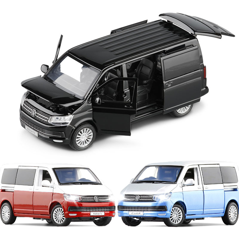 1:32 VW Multivan T6 Car Model Die Cast Alloy Boys Toys Cars Van Bread MVP SUV Supercar Collectibles Kids Car Free Shipping