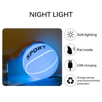Sen noc światła przenośne snu lampki nocne jasne Pat noc światło silikonowe koszykówka noc światła Pat światła nocne światło tanie i dobre opinie LemonBest Night Light Piłka CN (pochodzenie) NONE