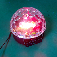 LED Crystal Magic Ball Light LED Color Ball Light DMX512 Stage Light Multi color Ball Light LED Spinning Stage Light|Stage Lighting Effect| |  -