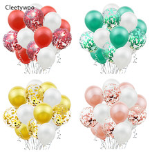15pcs Christmas Decoration Wedding Happy Birthday Balloon Confetti Baloons Birthday Party Decorations Kids Adult Baby Shower Boy(China)