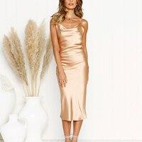 Backless Mid-Calf Slim Dress