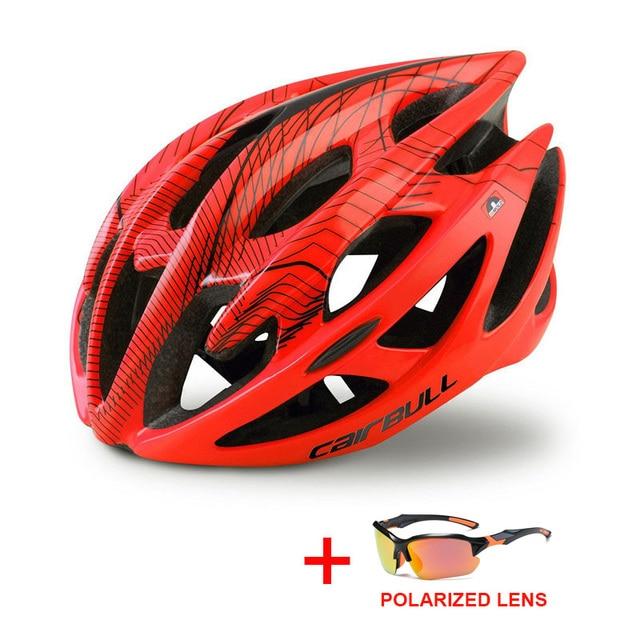 Profissional estrada mountain bike capacete com óculos ultraleve dh mtb todo o terreno capacete da bicicleta esportes equitação ciclismo capacete 2