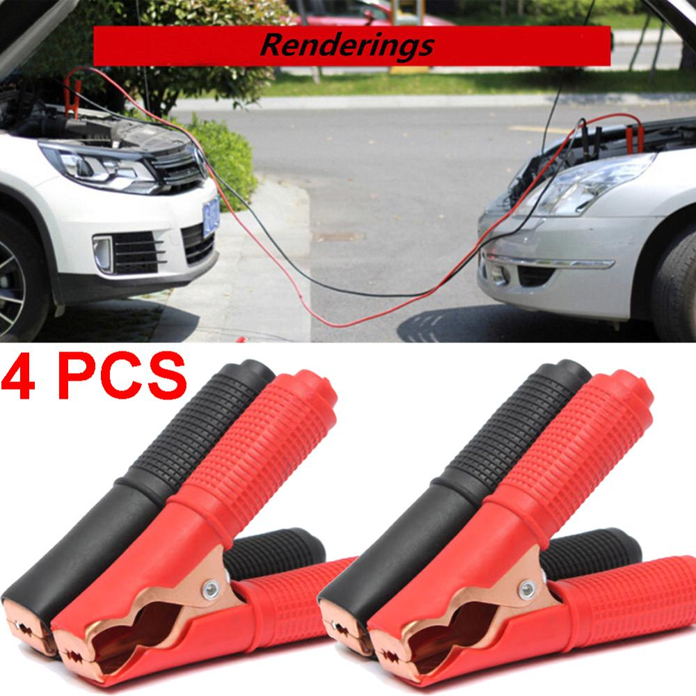 4Pcs 100A Auto Electrical Crocodile Alligator Clips Car Battery Insulated Test Lead Car Emergency Jumper Cables Wire Clip