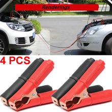 4Pcs 100A Auto Electrical Crocodile Alligator Clips Car Battery Insulated Test Lead Emergency Jumper Cables Wire Clip