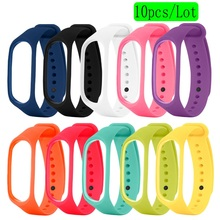 Gosear 10pcs TPE Replacement Watchband Wristband Smart Watch Wrist Strap Bracelet for Xiaomi Xiomi Xiao Mi Band Miband 3 Band3
