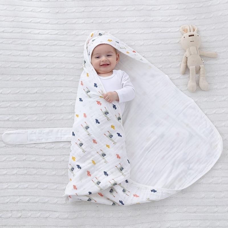 muslin swaddle soft gauze baby blankets newborn muslin cotton fabric blanket for baby summer wrap muselina bebe algodon 85*85CM