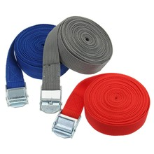 5m x 25mm Car Tension Rope Tie Down Strap Strong Ratchet Belt Luggage Bag Cargo Lashing With Rope Tensioner Metal Buckle Tow(China)