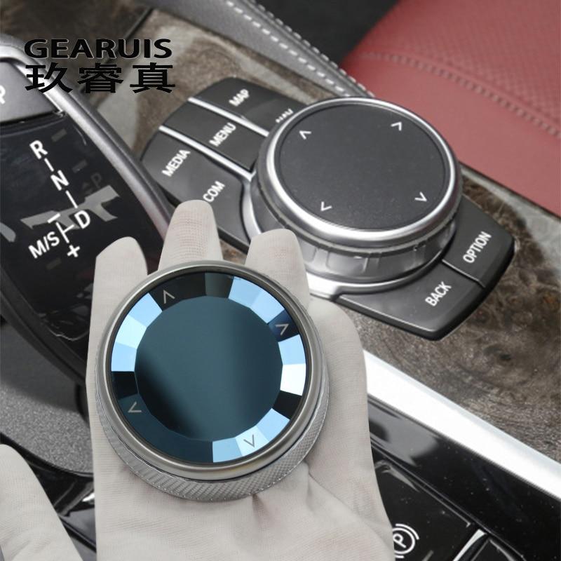 Autocollant de couvercle de bouton de commutateur multimédia en cristal, accessoires automobiles, pour BMW série 5 6 7 G30 G38 G32 X3 G01 X4 G02