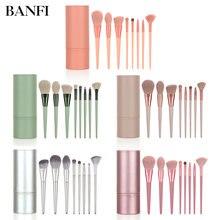 Набор кистей для макияжа banfi 8 шт косметическая пудра основа