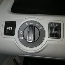 цена на Chrome Headlight Fog Light Control Switch Replacement  For Golf Jetta MK5 MK6 GTI Passat B6 B7 CC Touran Tiguan Car Accessory
