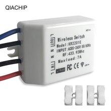 QIACHIP 433.92 MHz אלחוטי מתג אוניברסלי AC 85 265V CH אלחוטי שלט רחוק מקלט 433mhz maxload 7A גבוהה באיכות