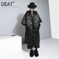 DEAT Japan Kimono Tied With Nightgown Style Three Quarter Sleeve Bat Sleeved Women Loose Plus Size 2019 Autumn Winter New TD681