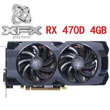 XFX RX 470D 4GB Video Karte 256Bit GDDR5 Grafiken Karten für AMD RX 400 serie VGA Karten RX 470D 4G 570 580 480 HDMI DVI Verwendet
