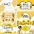 InMemory фон для фотосъемки с изображением майи пчелы Желтые Подсолнухи день пчелы новорожденный день рождения фон для фотостудии