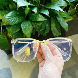 Image 5 - 새로운 대형 스퀘어 클리어 비 처방 렌즈 안경 대형 여성 남성 광학 안경 스펙타클 투명 합금