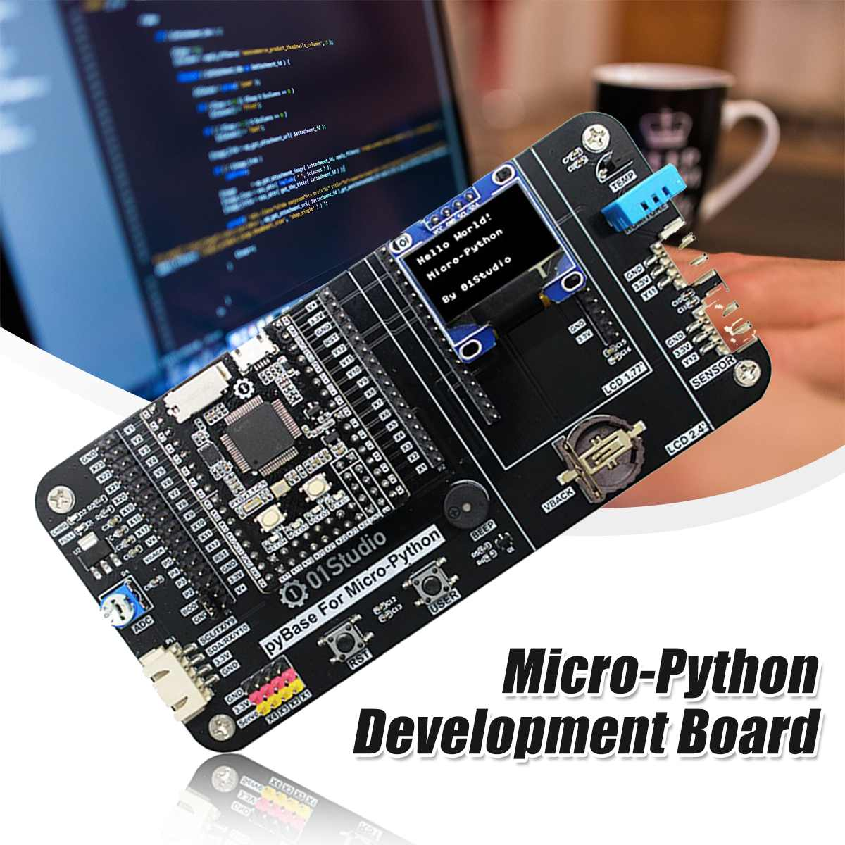 Micro-Pythons Development Board Pyboard STM32 Microcontroller Embedded Program Learning Kit Dropshipping New Arrival 2020
