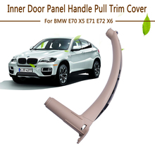 цена на Car Styling Right Left Inner Door Panel Handle Pull Trim Cover Auto Interior Accessories For BMW E70 X5 E71 E72 X6 SAV 2007-2013
