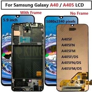 """Image 1 - 5,9 """"Für Samsung Galaxy A40 LCD A405 A405F A405FN/D A405DS Display Touchscreen mit rahmen Digitizer Montage für SAMSUNG A40 LCD"""