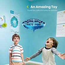 New Mini Hand Operated Levitation Drone Toy Infrared Induction Remote Flying Quadcopter Kids Interactive Helicopter(China)