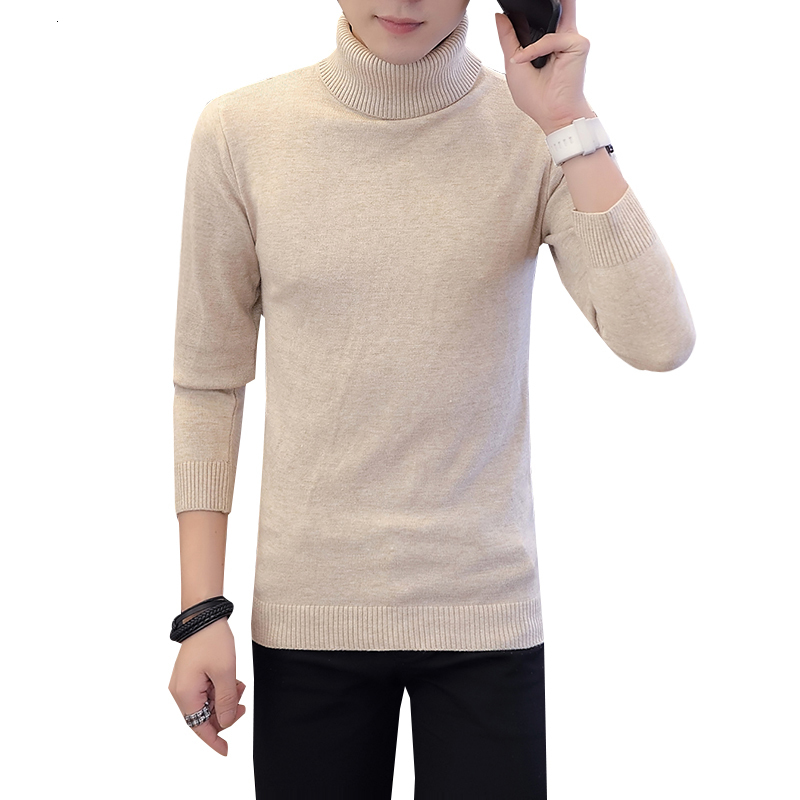 Winter Sweater Tall Neck Coat Warm Man Neck Tall Man Short Sleeve Sweater Men's Double-headed Sweater