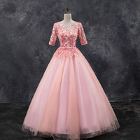 Sweet 16 Year Quinceanera Dresses 2019 Vestido debutante 15 anos Ball Gown Lace Applique Corset Prom Dress For Party