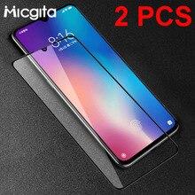Protector de cristal templado para pantalla de móvil, película protectora de cristal para Xiaomi Mi 9 SE 9T CC9 CC9e Mi 8 Lite Mi 6X 5X Mi 6, 2 uds.