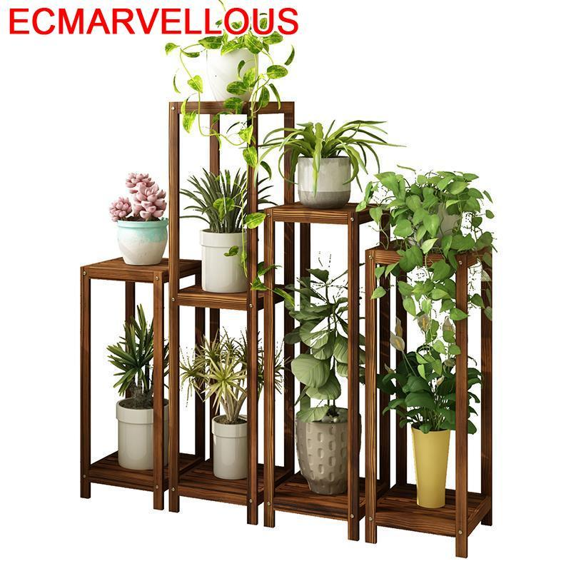 Estanteria Escalera Balkon Wood Terraza Plantenstandaard Garden Shelves For Outdoor Rack Dekoration Flower Shelf Plant Stand