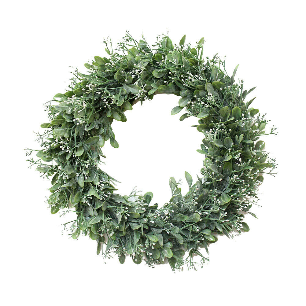 40cm Topiary Wreath Artificial Green Leaves Door Wall Window Hanging Garland Party Lower Outside Decor Home Decor