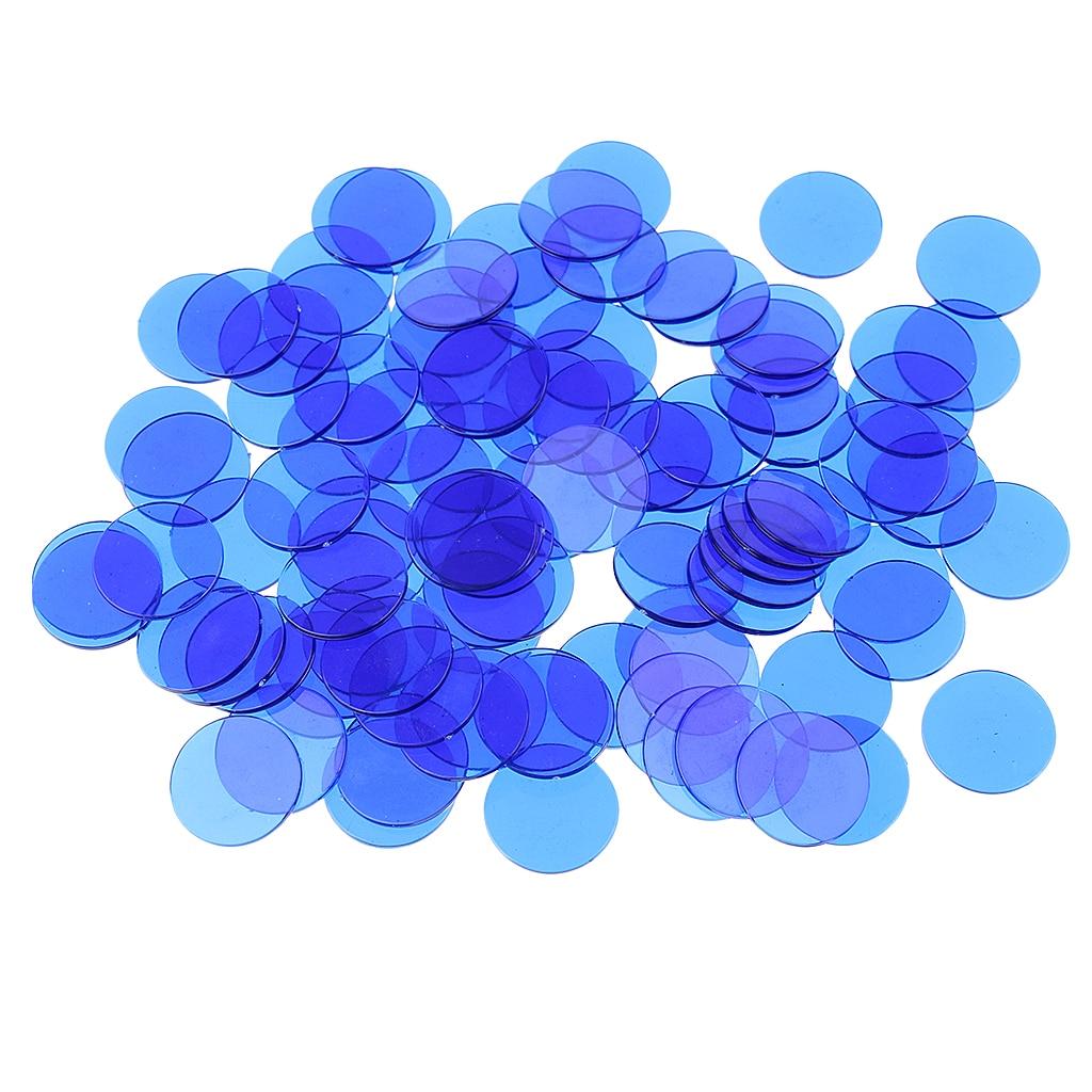 500 marcadores plásticos transparentes da microplaqueta da