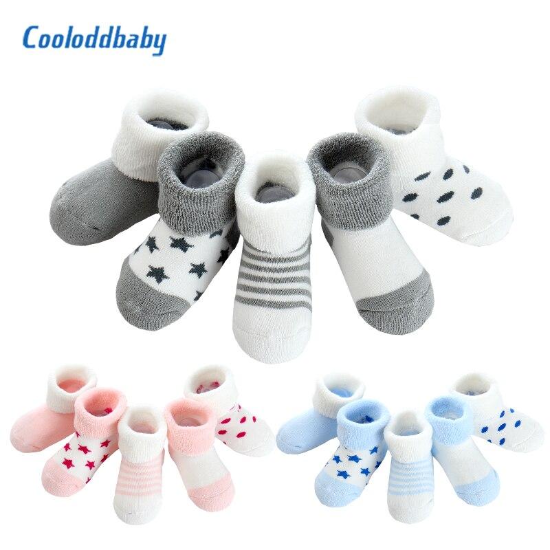 5 Pairs/lot Baby Socks Girl Newborns Infant Socks Cotton Warm Baby Boy Winter Toddler 0-24 Months Long Baby Socks