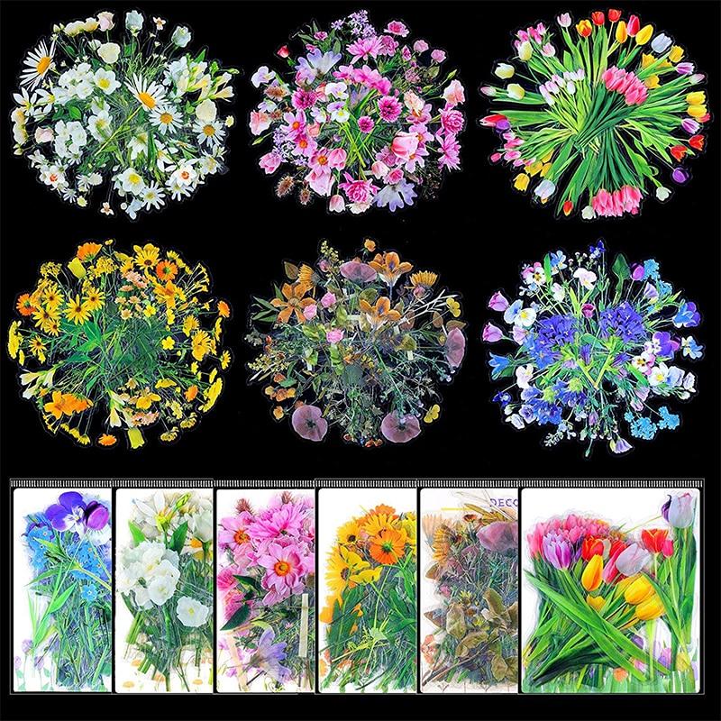 Для выведения токсинов, 40 шт Kawaii Flower наклейки для блокноты канцелярские товары наклейки эстетическое пуля журнал поставок Скрапбукинг накл...