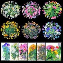 40 pçs kawaii flor adesivos para notebooks papelaria adesivos estéticos bala diário suprimentos scrapbooking adesivos para diário