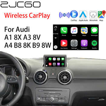 ZJCGO Wireless Apple CarPlay Android Auto interface adapter BOX For Audi A1 8X A3 8V A4 B8 8K B9 8W MMI 2G 3G MIB System image