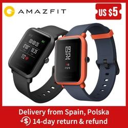 Amazônia Bip Relógio Inteligente Inglês/Espanhol/Russo GPS Smartwatch Android iOS Monitor de Freqüência Cardíaca 45 Dias Bateria vida IP68