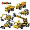 BanBao technic Infrared RC Engineering Excavator Crane Building Blocks Assemble Bricks Educational Model Children Kids Toys gift