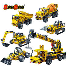 BanBao technic Infrared RC Engineering Excavator Crane Building Blocks Assemble Bricks Educational Model Children Kids Toys gift