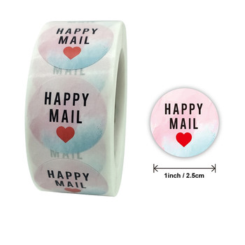 Pretty 1 500pcs Color Happy Mail Stickers Thank You Sticker for Small Business Mailing Supllies Envelope Packaging decor Labels pretty reckless pretty reckless who you selling for 2 lp
