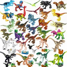 Legoing Jurassic Dinosaurs Park Baby Dinosaur World Crystal Raptor Pterosaurs Triceratops Tyrannosaurus Rex Figures Toy Legoings(China)