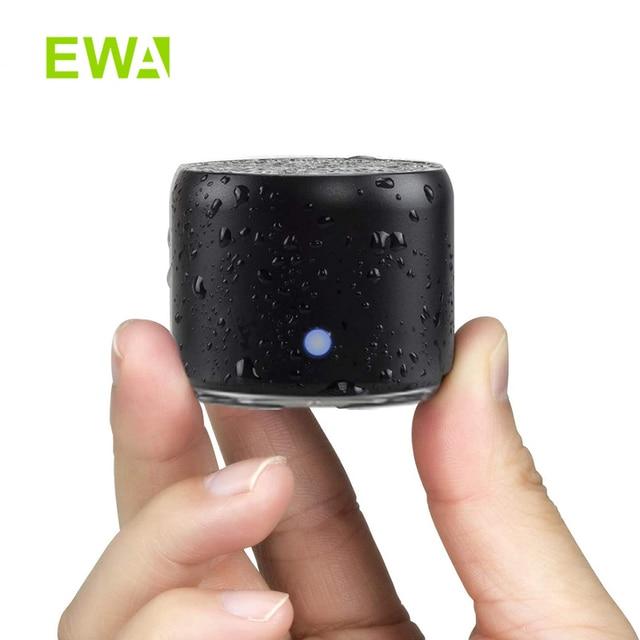 Ewa alto-falante bluetooth ip67 à prova dip67 água mini alto-falantes portáteis sem fio a106pro coluna com caso baixo radiador para casa ao ar livre 1