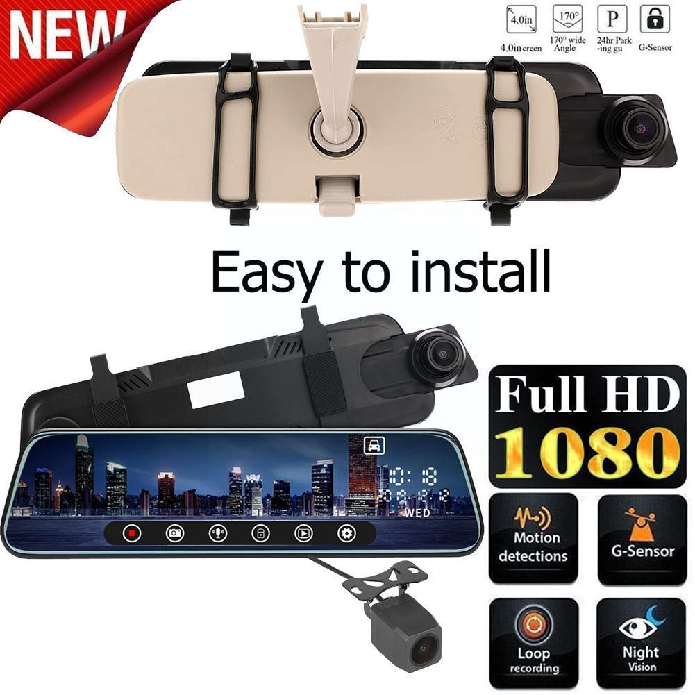 10Inch Car DVR Electronic Radar Night Dash Cam IPS Camera Rear Screen With G-sensor GPS RearView Camera Support C2X2