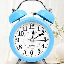 Fecha de visualización reloj despertador moderno de escritorio Vintage Retro reloj despertador clásico niños despertador Wekker Relojes Decoración de mesa JJ60AC
