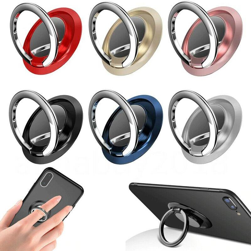 Anel de dedo suporte aperto 360 girando para o telefone móvel do carro magnético montagem telefone volta adesivo almofada suporte unniversal
